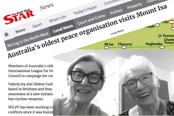 "WILPF takes ""end nuclear weapons"" message to Mt Isa"