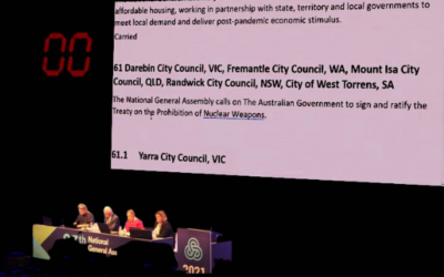Australia's Local Councils call for Federal Govt to Join the Ban Treaty